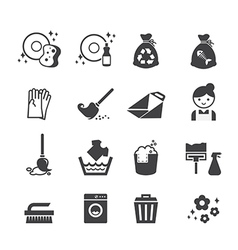 cleaning icon vector image vector image