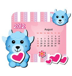 cute animal calendar vector image