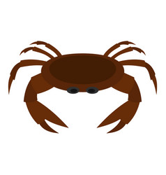 Edible brown crab icon isolated vector