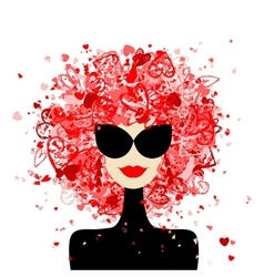 Fashion woman portrait for your design vector image vector image
