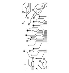 figure electrical circuits icon vector image vector image