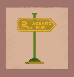 Flat shading style icon sign aquatic park vector