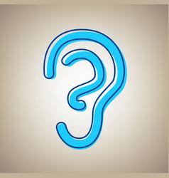 Human anatomy ear sign sky blue icon vector