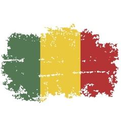Mali grunge flag vector