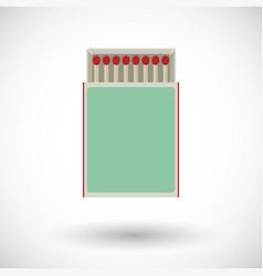 Matchbox flat icon vector