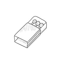Matchbox sketch icon vector image vector image
