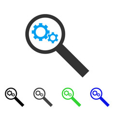 Search tools flat icon vector