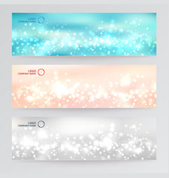 set template banner web abstract blurred soft vector image vector image