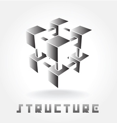 structure logo vector image vector image