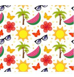 Summertime seamless pattern bright summer vector