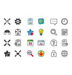 Teamwork icons helping hands symbols vector