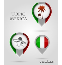 Topic mexica Map Marker vector image