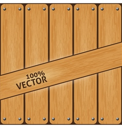 Vintage wood background vector image vector image