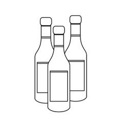 Wine bottles icon vector