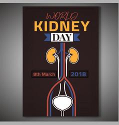 World kidney day vector