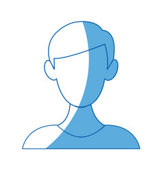 Young man character front view portrait vector