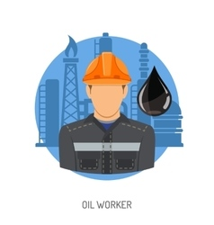 Oil Worker Concept vector image