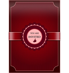 Red abstract invitation vector