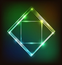 Abstract colorful glowing background with squares vector