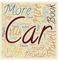Car hire uk cheap car hire uk car hire group text vector