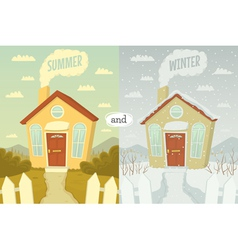 Summer and winter vector