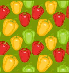 bulgarian pepper seamless pattern paprika yellow vector image