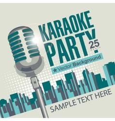 Karaoke parties vector image