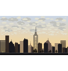Big city and skyscrapers vector