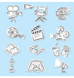 cinema graphics vector image