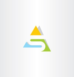 Triangle logo letter s logotype vector