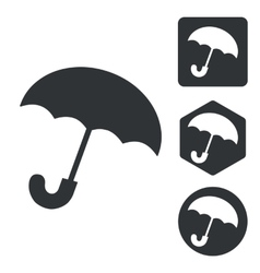 Umbrella icon set monochrome vector