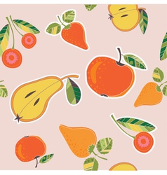 fruits and berries pattern vector image