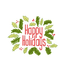 Happy holidays vintage greeting card vector