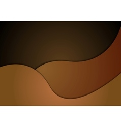 Dark brown corporate material wavy background vector