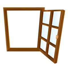 Single window frame vector image