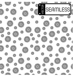 Abstract seamless black pattern with swirls on vector