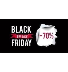 Black Friday sale design template Black Friday 70 vector image vector image