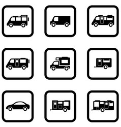 camper cars set vector image