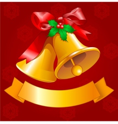 Christmas bells design vector image