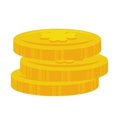 coin clover irish stack vector image