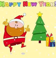Congratulation card Happy New Year vector image