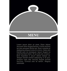 Cover for hot dishes cloche on black background vector