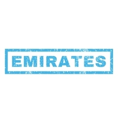 Emirates Rubber Stamp vector image vector image
