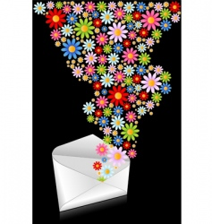 Flower mail vector