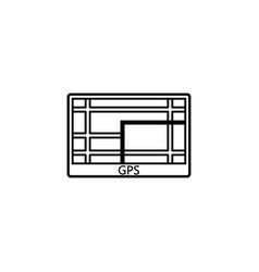 Gps navigation line icon car element navigator vector