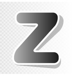 Letter z sign design template element new vector