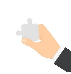 man human hand vector image vector image
