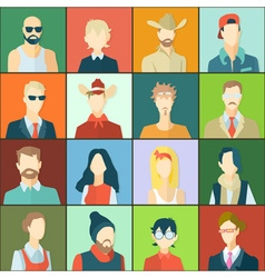 Set of avatars flat design vector image vector image