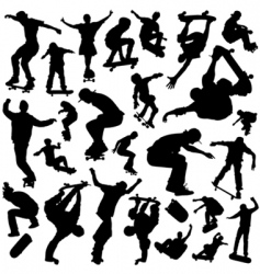 skateboarding set vector image