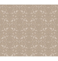 Stylish abstract beige floral vintage seamless vector